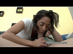 Latina hottie Gia Steel is taking dick from a lucky nerd
