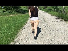 walk with ass out outdoors