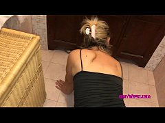 Milf buggered in the bathroom while looking for contact lenses