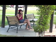 Hot Asian girl finds college coed at the park for lesbian pussy eating