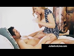 Step Mom Milf Julia Ann Gets A Load On Her Face...