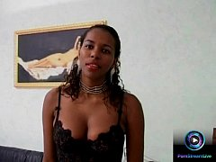 Ebony babe Maisa first time getting experiencin...