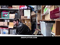 Shoplyfter - Shoplifting teen gets caught fucked in front of dad