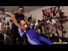 BBC Slut Carmen Valentina Wants Interracial Gangbang In The GYM