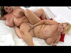 Sexy Busty BBW Lesbians Lick Each Others Clits ...