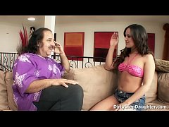 Very lucky man Ron Jeremy fucking his sweet tee...