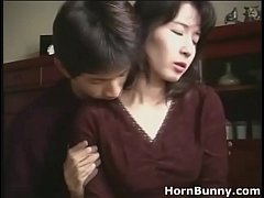 Japanese mom and son home alone