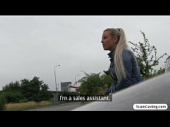 Lawra let the stranger fucked her beacause she wants the job offered to her