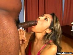 Nataly Rosa black Cock Handjob And Blowjob