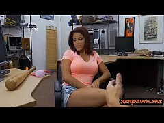 Pierced nipples babe railed by pawn man at the ...