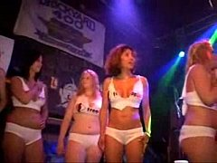 Hot wet t-shirt contest with big boobed Amateurs part 1