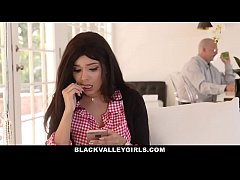 BlackValleyGirls- Teen Fucks White Boyfriend Behind Her Daddy's Back