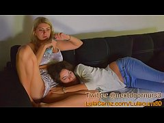 lulacum69 finger her sweet pussy roommate beautiful blonde