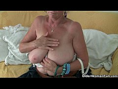 Big boobed granny Isabel needs to get off in pa...