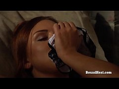 Young Lesbian Slave Masturbates With Help From Mistress
