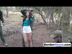 Girl accepts fucking with the border patrol off...