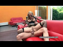 Slutty cop Caty Campbell takes it in the ass