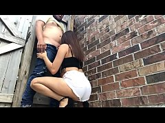 Crazy girlfriend gives BlowJob on Alley - Lexi ...