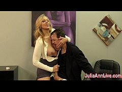 Milf Julia Ann milks her stepson before his prom date, Julia wants to make sure his balls are empty! Join JuliaAnnLive.com now to see the full video and free member shows!