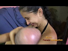 Girl Is Smothering Guys Face to Her Small Breast