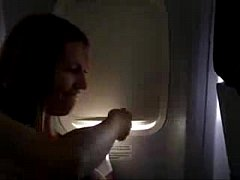 Euro Chick Masturbating A Mile High On An Airline