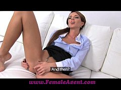 FemaleAgent Agent dominates money motivated beauty