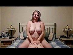 Chunky cock-crazed gal riding