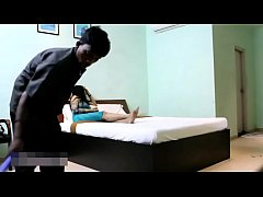 Indian Bhabhi In Blue Lingerie Teasing Young Room Service Boy