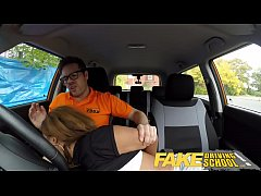 Fake Driving School Ebony Londoner Pays for les...