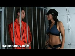 BANGBROS - Big Tits MILF Cop Lisa Ann Grants Final Wish To Criminal In Prison