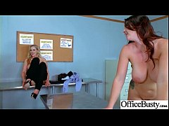 Sex Action In Office With Big Round Tits Slut G...