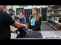 Babe sells helmet and rammed by pawn guy